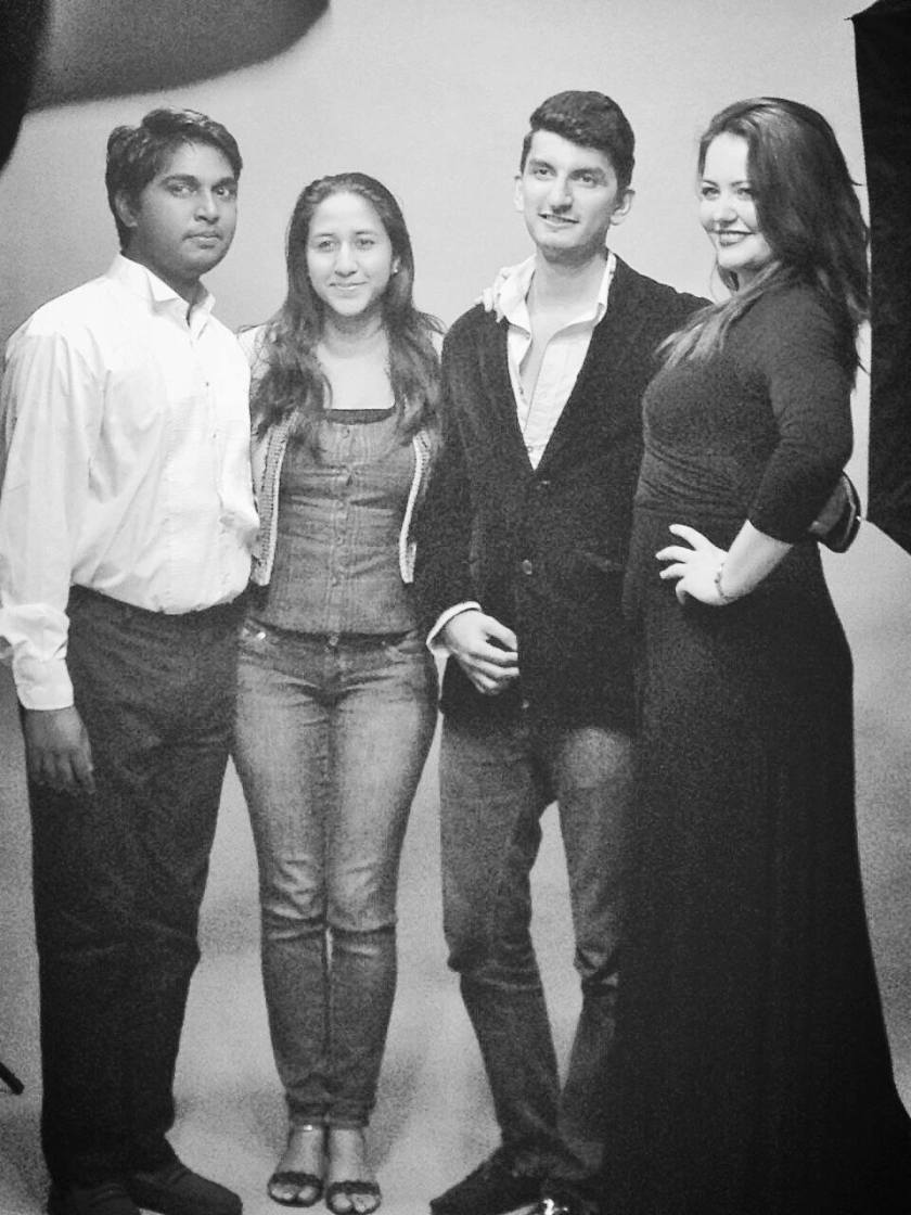 FROM THE LEFT: Vedesh Nath (Jean), Aryana Mohommed (Co-Director), Farrukh Altaf Barlas (Producer) and Rebecca Foster (Miss Julie)