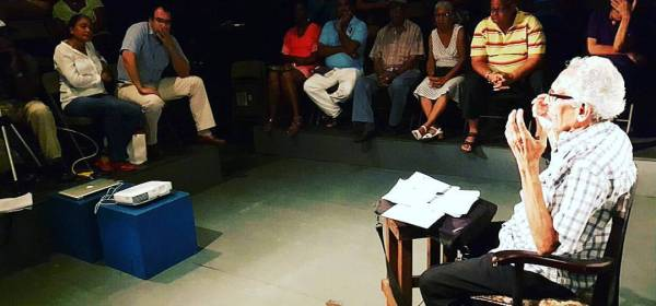 Freddie Kissoon strolls down memory lane at the Monday Night Theatre Forum hosted by Tony Hall, Raymond Choo Kong Trinidad Theatre Workshop and the Trinidad and Tobago Performing Arts Network
