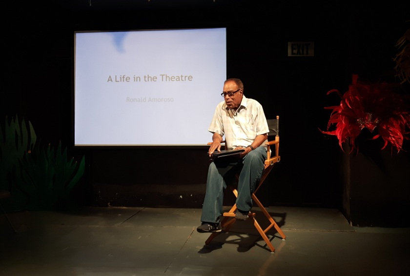 Ronald Amoroso shares his life in the Theatre at the Monday Night Theatre Forum