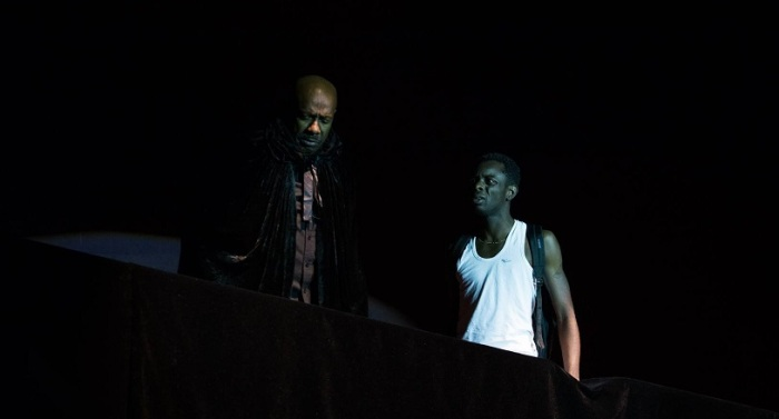 Marlon (Chaquille Charles) confronts his father, Terrence (Errol Fabien) | Photo credit: Dominic Koo