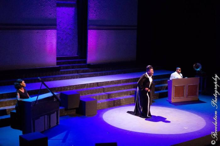 Llettesha Sylvester as Mahalia in JCS Entertainments Mahalia A Gospel Musical at Queen's Hall