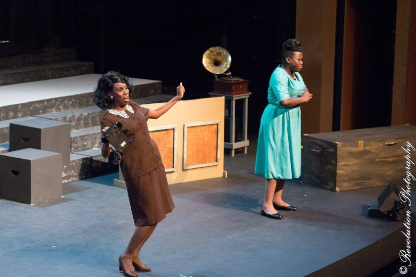 Abeo Jackson and Llettesha Sylvester in JCS Entertainment's Mahalia a Gospel Musical at Queen's Hall