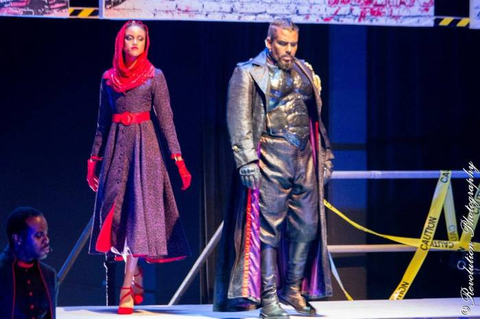 Tiana Chandler (left) as the wife of Pilate (Chris Smith) in Jesus Christ Superstar 2016 | Photo credit: Ryan Manette