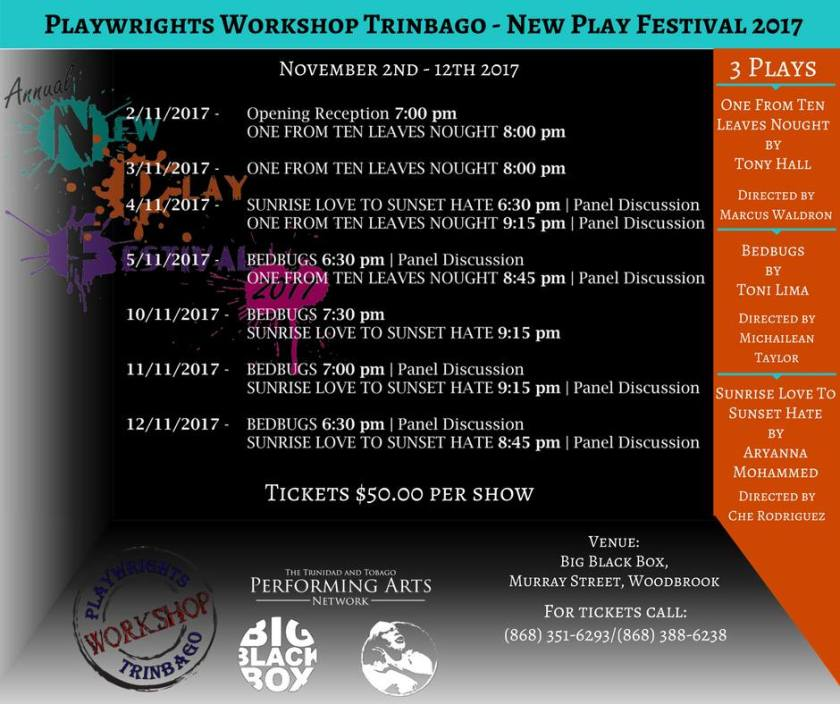 New Play Festival flyer
