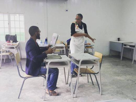The Cast of Aryana Mohammed's 'Sunrise Love to Sunset Hate' in rehearsal at St. George's College | Photo Credit: Paula Lindo