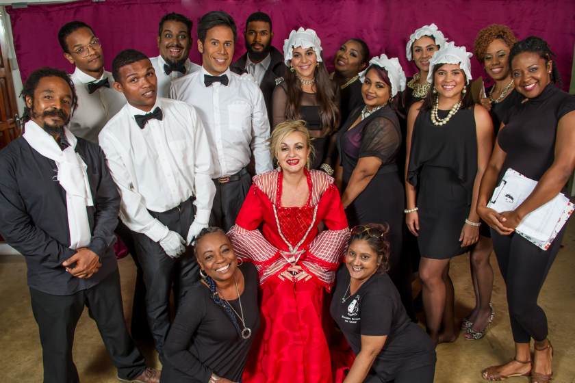 The Cast of Diana with playwright producer - Lylah Persad ( bottom right) and Director - Penelope Spencer (bottom left)