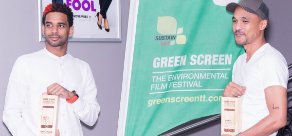 Renaldo 'Red' Frederick (left) and Shane Hosein (right) Green Screen - The Environmental Film Festival | Photo Credit: Saul Ramlal for the Trinidad and Tobago Performing Arts Network