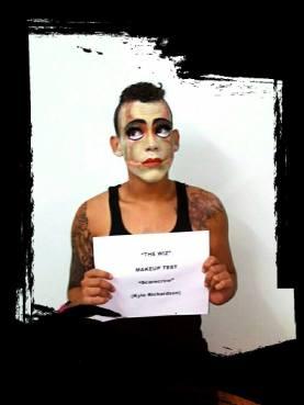 "Kyle Richardson, 'THE WIZ', Makeup test for ""Scarecrow"" | Photo courtesy: Proscenium Theatre Company"